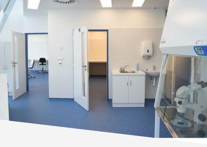 Laboratoře v Innocrystalu Praha