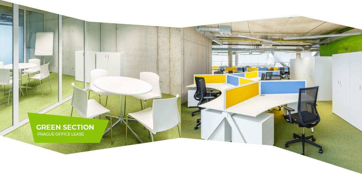 Green section – Prague office lease