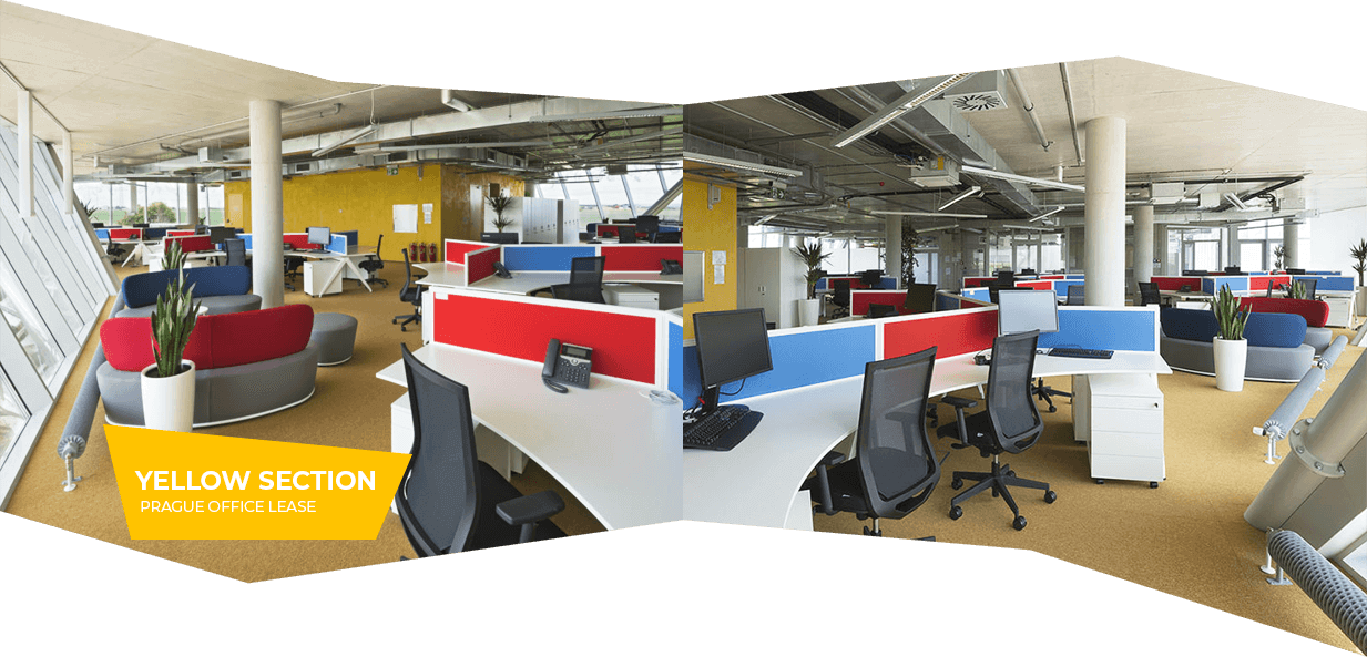 Yellow section – Prague office lease