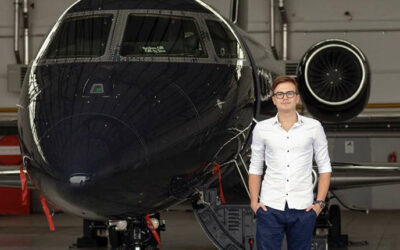 He has been interested in airplanes since childhood. Now the young Czech manages private flights